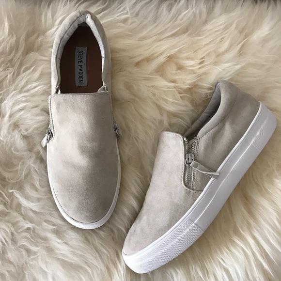 Steve Madden Glaammar Zip Sneaker Bone